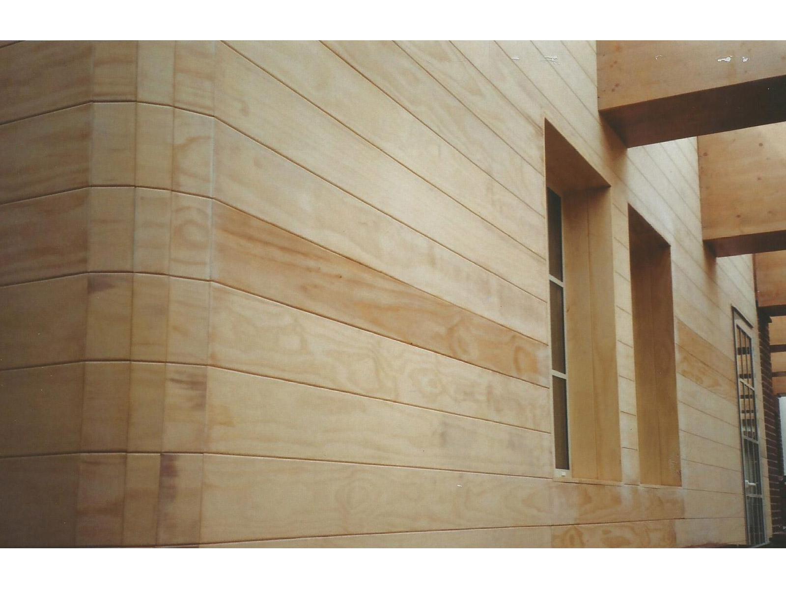 Esterni pareti in Accoya particolare angolo