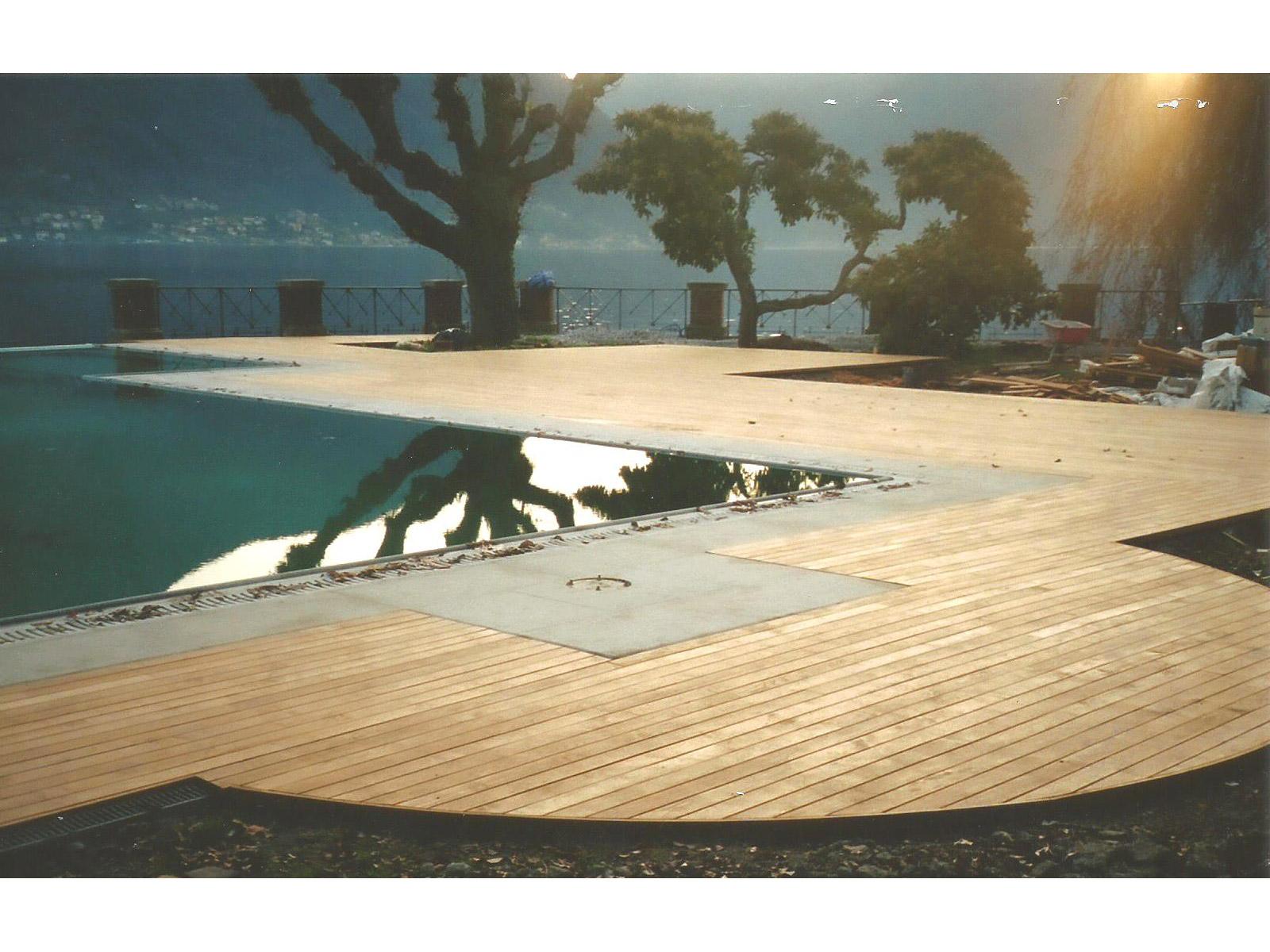 Piscina maxi-listoni Teak - Lago di Como